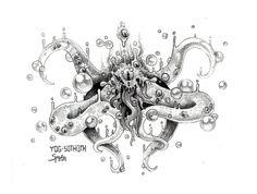 """Przejrzyj mój projekt w @Behance: """"Yog-Sothoth"""" https://www.behance.net/gallery/43369213/Yog-Sothoth"""