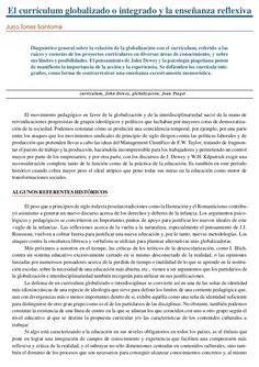 """Jurjo Torres Santómé. """"El curriculum globalizado o integrado y la enseñanza…"""