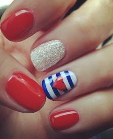 Fourth of July nail