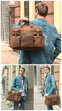 mens accessories bag for makeup Handbags On Sale, Luxury Handbags, Leather Duffle Bag, Duffle Bags, Leather Briefcase, Laptop Shoulder Bag, Shoulder Bags, Briefcase For Men, Messenger Bag Men