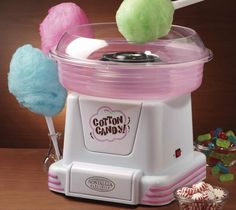 Nostalgia Hard & Sugar-Free Candy To Cotton Candy Maker. The cotton candy maker transforms your favorite hard and sugar-free candies into fluffy, melt-in-your-mouth cotton candy. Nostalgia, Sugar Free Candy, Jolly Rancher, Geek Gadgets, Top Gadgets, Hard Candy, Kitchen Gadgets, Cool Kitchens, Inventions