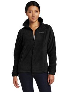 Columbia Women's Benton Springs Full Zip, Black, Medium C...