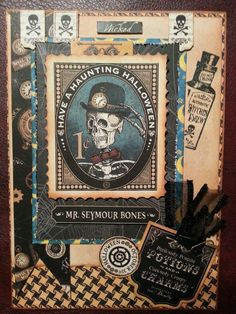 Halloween card using Graphic 45 Steampunk Spells - 2013