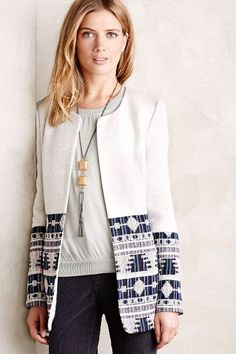 Tapestry Drop Coat - #anthrofave