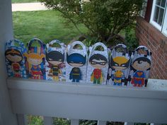 For the Girls  and Boys Superhero Gable Boxes Set of 14. $16.80, via Etsy.