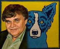 George Rodrigue and his Blue Dog Tiffany