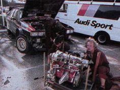 Audi Quattro, Michèle Mouton & Fabrizia Pons' Quattro gets attention at '81 Tour de Course.