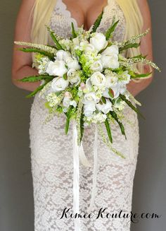 IVORY BRIDAL BOUQUET. Whimsical Bouquet. Bridal by KimeeKouture