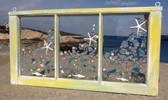 Star Fish Sea Glass Window