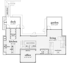 Rooftop Living - 44105TD | Beach, Modern, Photo Gallery, 1st Floor Master Suite, CAD Available, Courtyard, Den-Office-Library-Study, PDF, Split Bedrooms | Architectural Designs