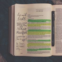 James 1 journaling and highlighting in Bible, hand lettering Bible Notes, My Bible, Bible Art, Bible Scriptures, Bibel Journal, Give Me Jesus, In Christ Alone, How He Loves Us, Illustrated Faith