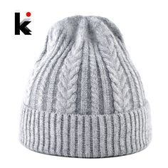 b4e1e75b160 Autumn Winter Women Knitted Hats Ladies Mixed Color Knit Twist Pattern  Skullies  fashion  clothing  shoes  accessories  womensaccessories  hats ( ebay link)