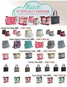 I Love a Gr8 Sale!  We have wonderful specials every month!  Here is March 2014!  Shop now mythirtyone.com/BrandyLBaker