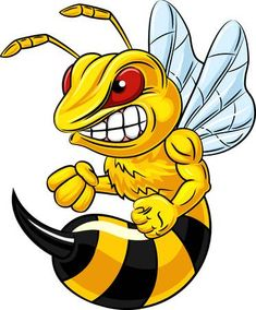 Vector illustration of angry bee mascot isolated on white background - – Millions of Creative Stock Photos, Vectors, Videos and Music Files For Your Inspiration a - Graffiti Art, Graffiti Drawing, Cartoon Kunst, Cartoon Drawings, Cartoon Art, Art Drawings, Airbrush Designs, Airbrush Art, Bee Drawing
