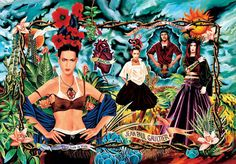 Ad  campaign for the Tribute to Frida Kahlo collection, Women's  prêt-à-porter spring/summer 1998, Art direction and photography: Jean  Paul Gaultier. photo © Jean Paul Gaultier.