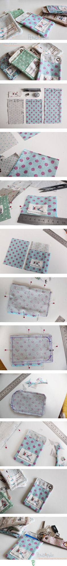 Great project idea. Maybe add a flap/strap to keep the item -- phone / ipod from falling out of the pouch.