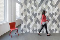 FilzFelt has turned Eva Zeisel's most popular shapes that were once ceramics, and translated them into modular acoustic tiles for the wall.