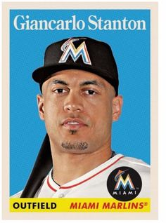 2016 Topps Now TBT Week # 2 Card # 8 Giancarlo Stanton Throwback Thursday LE #MiamiMarlins