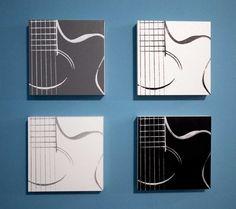 10+x+10+Acoustic+Guitar+Music+Quadruple+Canvas+by+inktheprint,+$120.00