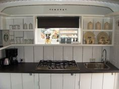 Keuken in pipowagen