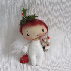 Christmas  Angel   hand painted cloth Angel Angel cloth doll