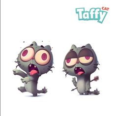 #zombie #dmnart #stickers #taffycat #cat #cute #cartoon #imessage my new sticker pack on the new Appstore for iMessage . Не мог отказать себе в зомби котах)