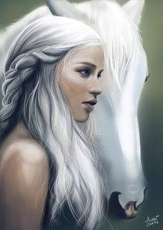 Best fan art I've seen. - Game of Thrones Dessin Game Of Thrones, Arte Game Of Thrones, Fantasy Women, Fantasy Girl, Character Inspiration, Character Art, Game Of Trone, The Mother Of Dragons, My Champion