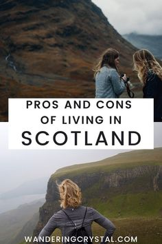 Moving to Scotland and Living in Scotland has tons of pros and cons. Read more pros & cons Moving To Scotland, Scotland Travel, Glasgow Necropolis, Temporary Jobs, Edinburgh Travel, Scottish People, Working Holiday Visa, Scotland Holidays, Moving To The Uk