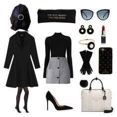 """I'm not bossy, I'm the boss"" by mxgvi ❤ liked on Polyvore featuring Wolford, Misha Nonoo, Carven, Gianvito Rossi, Henri Bendel, Kate Spade, Yves Salomon, Armani Collezioni, Clé de Peau Beauté and Selim Mouzannar"