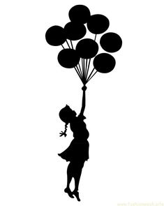 Bansky template girl with balloons - .- Bansky Vorlage Mädchen mit Luftballons – … Bansky template girl with balloons – - Decoration Restaurant, Its A Girl Balloons, Girl With Balloon, Girl Holding Balloons, Arte Quilling, Stencil Printing, Crayon Art, Silhouette Portrait, Silhouette Design