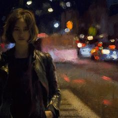 "Detail shot of my recent oil painting, ""After Midnight"". //Casey Baugh"