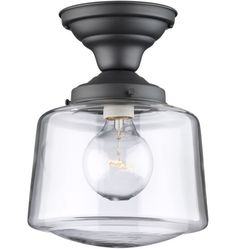 Kitchen Perimeter Lights -  Classic Flush Ceiling Fixture -  Same fixture but with frosted shade instead