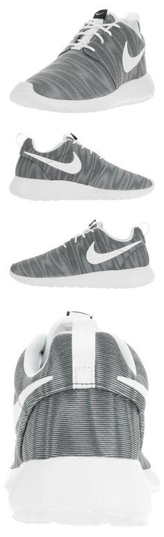 $80 - Nike Women's Roshe One Print White/Black/Cool Grey Running Shoe 7.5 Women US #shoes #nike