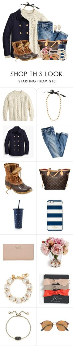 """When he asks if you want to go Black Friday shopping with him"" by flroasburn ❤ liked on Polyvore featuring J.Crew, L.L.Bean, Louis Vuitton, Kate Spade, Kendra Scott and Ray-Ban"