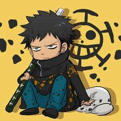 Trafalgar D. Water Law, cute, chibi; One Piece