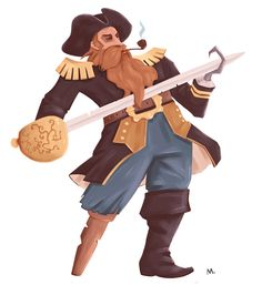 Concept art, pirate, character design, Martin Wickstrom Cartoon Characters, Fictional Characters, Concept Art, Character Design, Fantasy, 3d, Drawings, Illustration, Pirates
