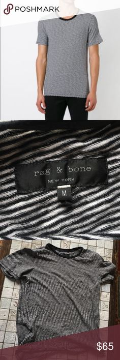 Rag & Bone Rupert Striped T-Shirt Wonderful Rag & Bone take on a traditional striped t. rag & bone Shirts Tees - Short Sleeve