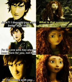 Merida and Jack would make a terrible couple. Jelsa and Mericcup rule! Cartoon Network Adventure Time, Adventure Time Anime, Dreamworks Animation, Disney And Dreamworks, Tangled Princess, Princess Merida, Jack Frost, Rapunzel, Merida And Hiccup