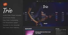 Download and review of Trio - Band WordPress Theme, one of the best Themeforest Entertainment themes