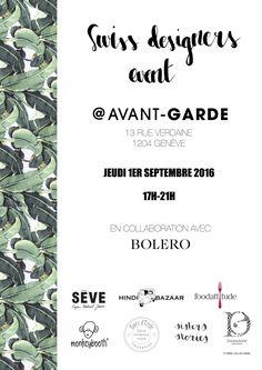 Mode locale chez Avant Garde: La boutique Avant-Garde à Genève, organise le 1er septembre… #MODE #avantgarde #boutique #Designer #Genève