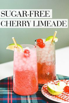 Sugar Free Cherry Limeade Recipe