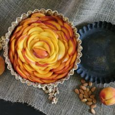 Raw Peach Tart, a raw, vegan, and gluten free version of a classic peach tart. Made from minimal ingredients, non processed.