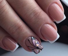 Short nails french manicure nail art design