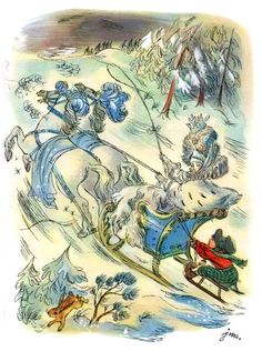 Jan Marcin Szancer illustration from 'The Snow Queen' from 'The Fairytales of Hans Christian Andersen'; translated by Stefania Beylin and Stanisław Sawicki, 1978 Illustrations, Graphic Illustration, Vintage Book Art, Andersen's Fairy Tales, Vampire Art, Fairytale Fantasies, Goth Art, Dark Fantasy Art, Snow Queen