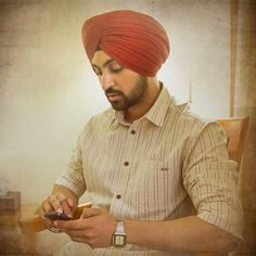 Diljit Dosanjh Celebs, Celebrities, Headpiece, Indian, Shirt Dress, Actors, Superhero, My Favorite Things, Mens Tops