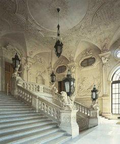 Grand staircase in the Upper Belvedere Vienna Austria