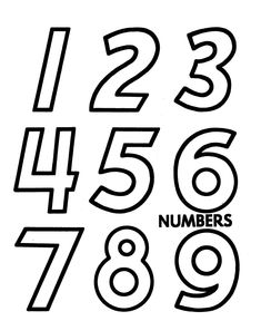 Counting objects Activity Sheet | Cut-out Numerals - Large Numbers  : 1 - 10