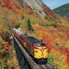 Embark on a fall foliage tour by train and enjoy vacations to Mackinac Island, New England tours to quintessential regional sights and packages into the Eastern New England States, New England Travel, By Train, Train Tracks, Train Tour, New Hampshire, Rhode Island, Places To Travel, Places To See