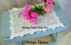 Shabby Paints Baby Boo dry brushed with Alamo White Repurpose, Reuse, Painted Furniture, Furniture Ideas, Vintage Updo, Dry Brushing, Color Pop, Give It To Me, Shabby