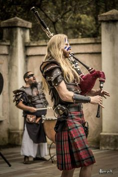 Bagpipes were once considered a weapon of war. Bagpipes are either the most beautiful sound in the world, or the most terrible. It all depended on which side of the battlefield you were standing on. Tartan, Plaid, Motif Music, Scottish Man, Scottish Music, Scottish Warrior, Scottish Kilts, Brave, Viking Men